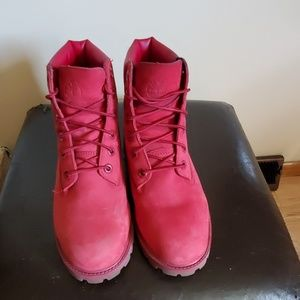 Timberland Shoes - Red Kids Timberland boots